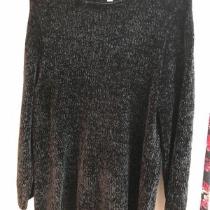 J Jill Chenille sweater black XL
